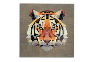 Clearance: Geometric Tiger, 22 x 22 Grey
