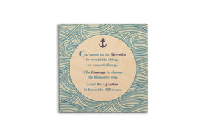 Clearance: Serenity Prayer Nautical 14 x 14