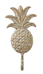 DISTRESSED PINEAPPLE WALL HOOK