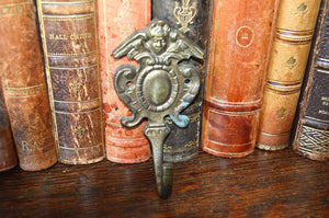 Antique German Cherub Hook Brass Hardware 2 Available