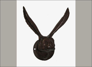 Large Cast Iron Rabbit Ears Wall Hook