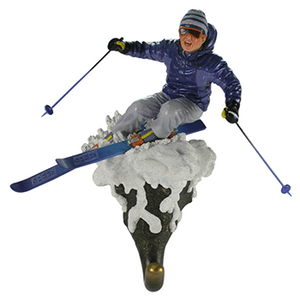Male Skier Wall Hook