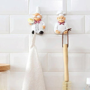 2Pcs Resin Mobile Power Plug Line Hook Chef Wall Hooks
