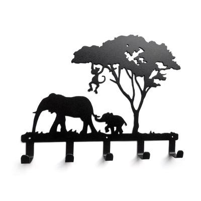 Mp Creative iron hook Elephant Giraffe Wall hook Robe coats Bathroom hooks Home accessories kitchen hanger