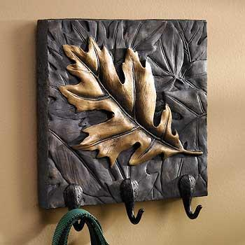 Oak Leaf Plaque with Hooks
