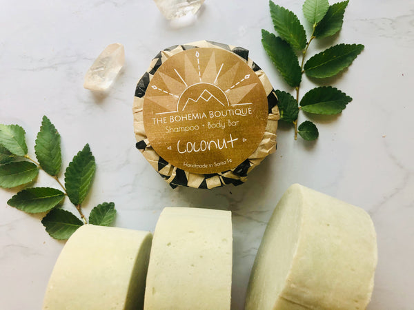 Coconut - Shampoo Bar - The Bohemia Boutique - Bath and Body Products - Santa Fe, NM