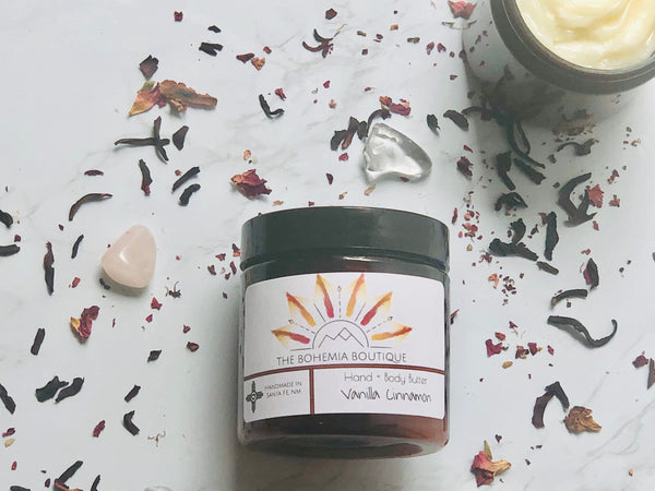 Vanilla + Cinnamon - Whipped Body Butter - The Bohemia Boutique - Bath and Body Products - Santa Fe, NM