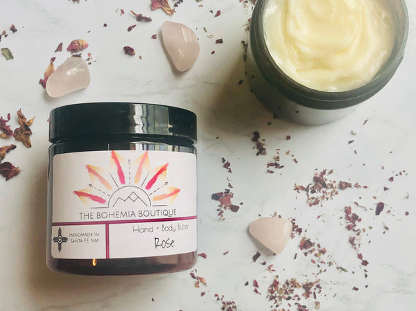 Rose - Whipped Body Butter - The Bohemia Boutique - Bath and Body Products - Santa Fe, NM