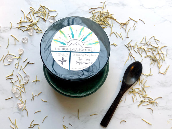 Peppermint + Tea Tree - Sugar Scrub - The Bohemia Boutique - Bath and Body Products - Santa Fe, NM