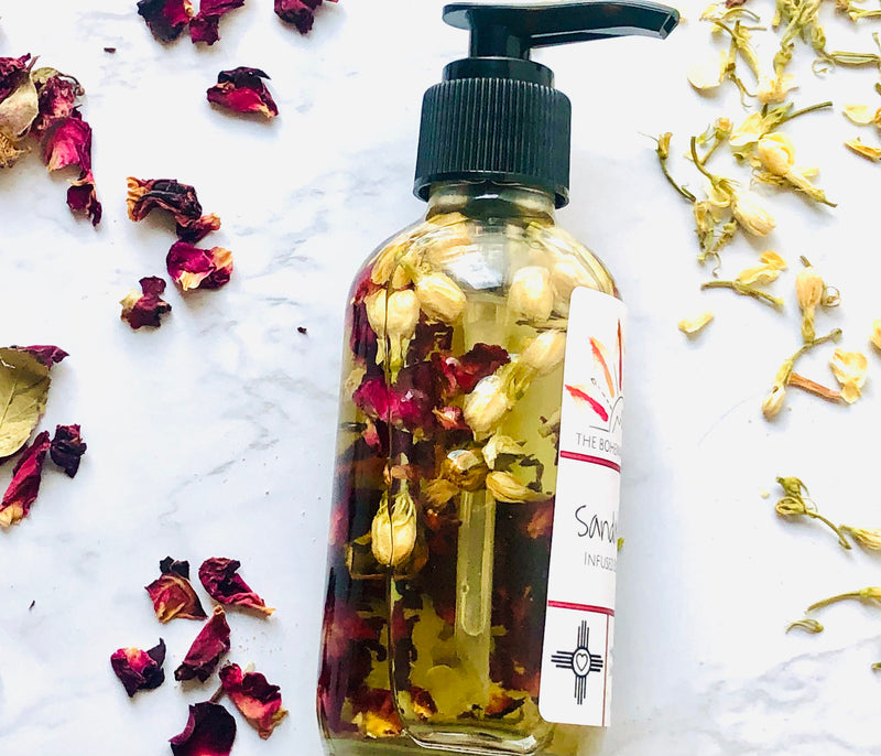 Sandalwood - Crystal Infused Body Oil - The Bohemia Boutique - Bath and Body Products - Santa Fe, NM