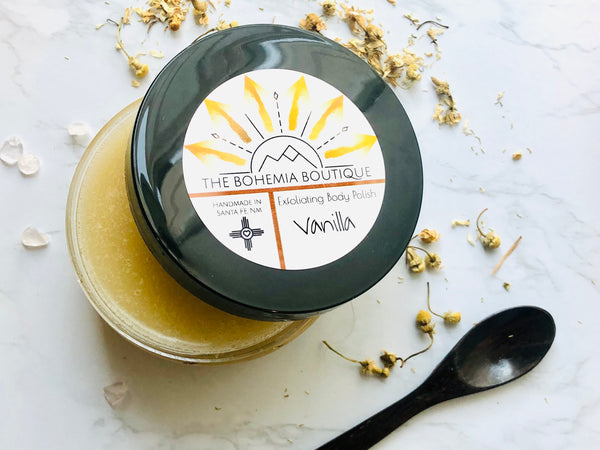 Vanilla - Sugar Scrub - The Bohemia Boutique - Bath and Body Products - Santa Fe, NM