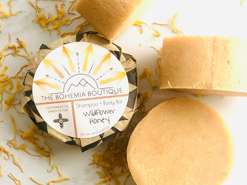 Honey Shampoo Bar + Soap Bar - The Bohemia Boutique - Bath and Body Products - Santa Fe, NM