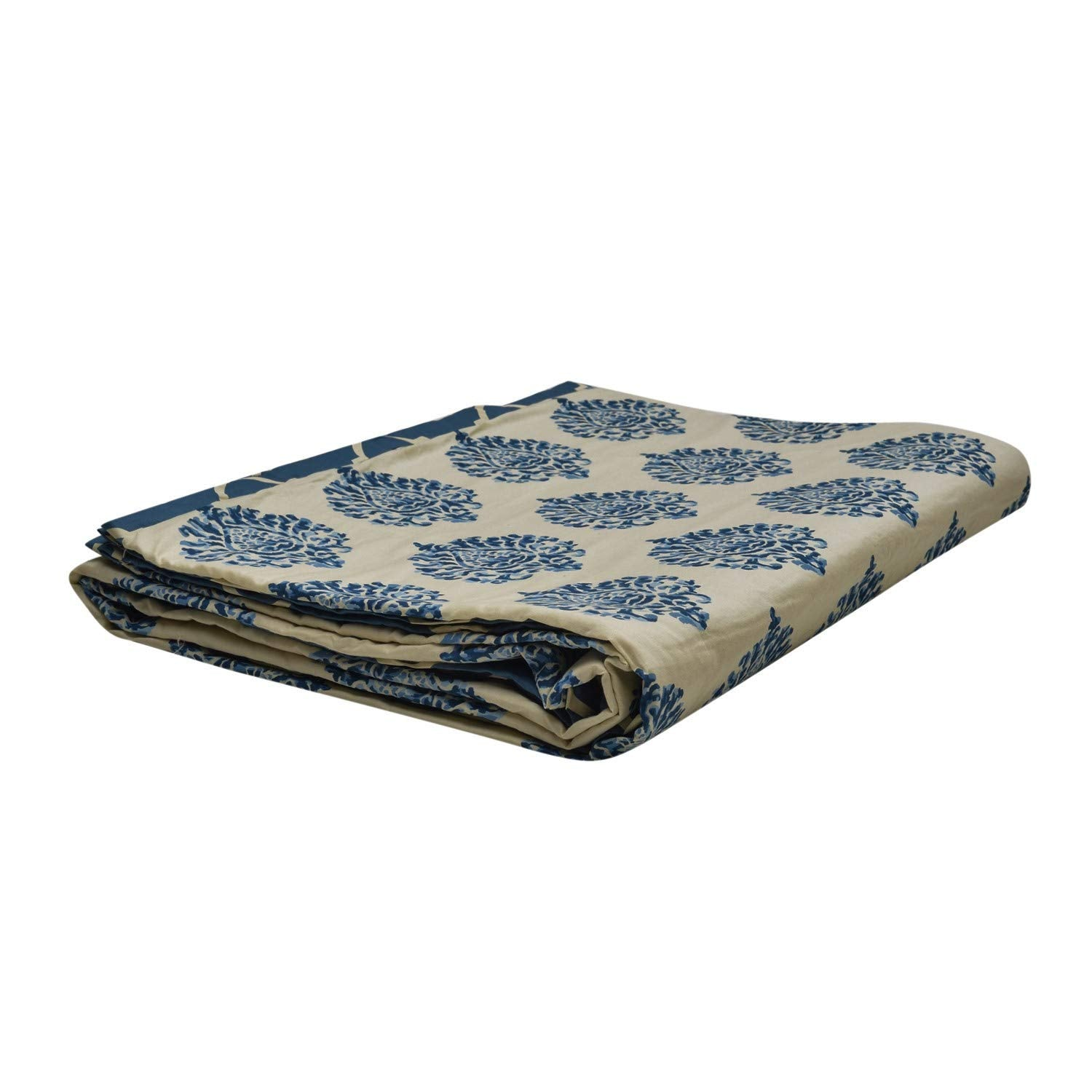 Trance Home Linen Cotton Single Dohar - Damask Blue