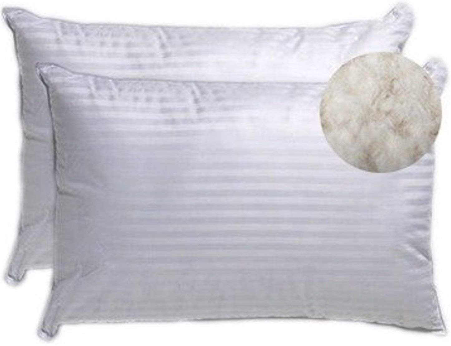 Classic Cotton Pillows - 16 x 24-inch White- Pack of 2