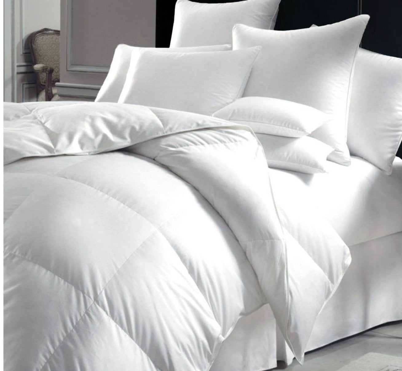 "Trance Home Linen Cotton Microfibre Double Duvet (White, 88"" x 96"")"