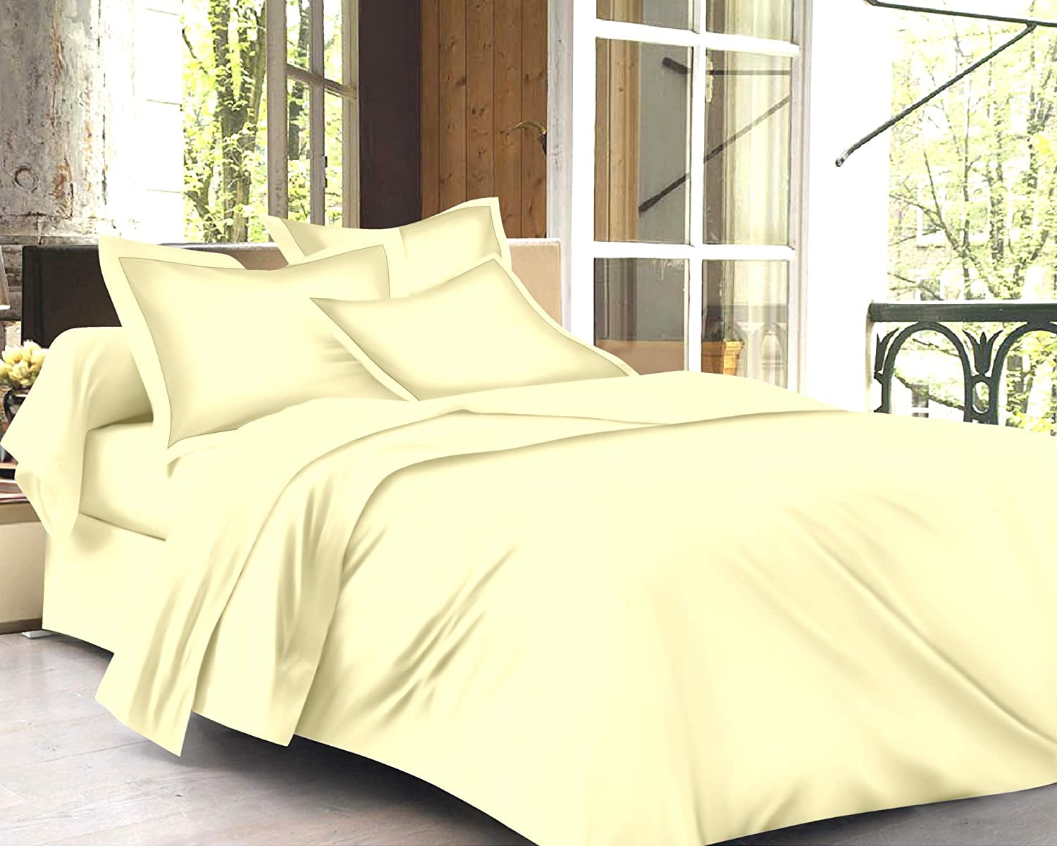 Trance Home Linen Cotton 400 TC Solid Plain Duvet Covers