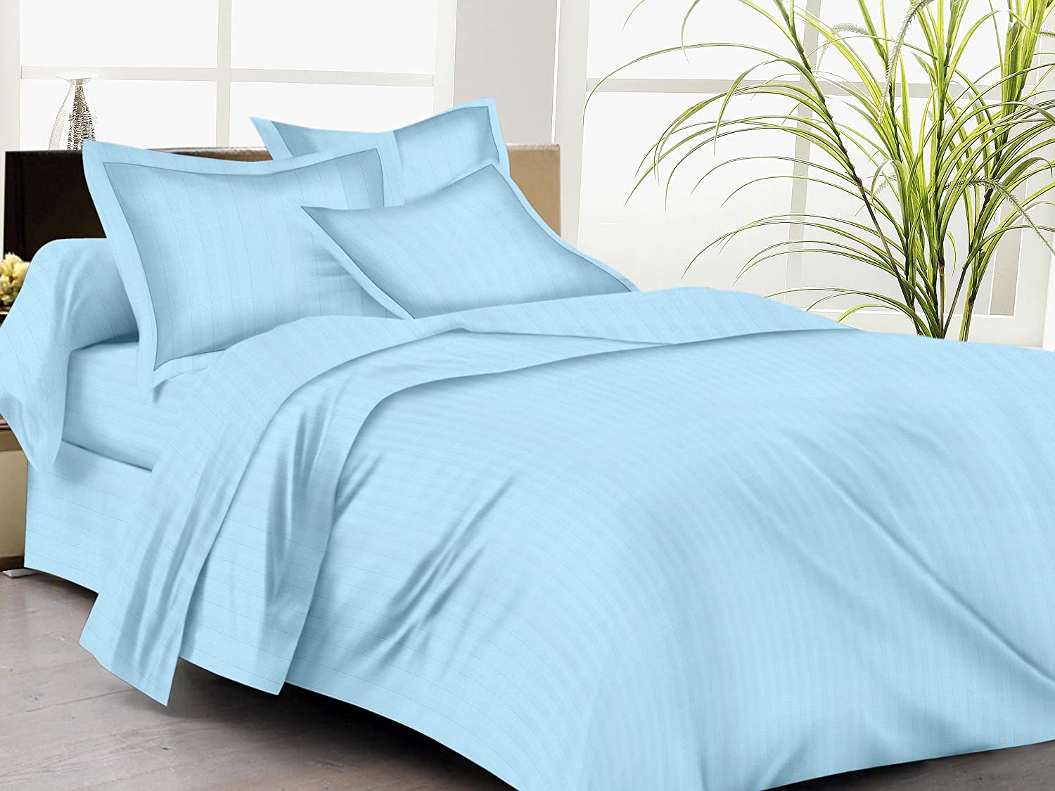 "Trance Home Linen 200 TC Cotton Duvet Cover with 2 Pillow Covers - King Size - 102"" x 110"""