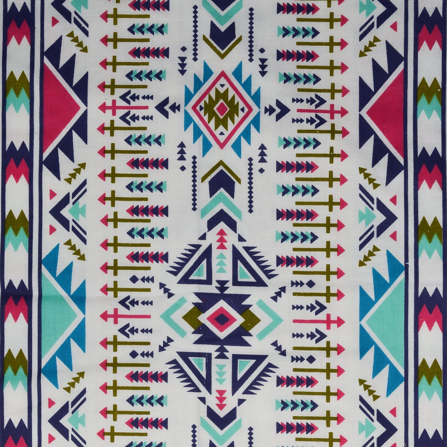 Trance Home Linen Cotton Double Dohar-AZTEC Sea Blue