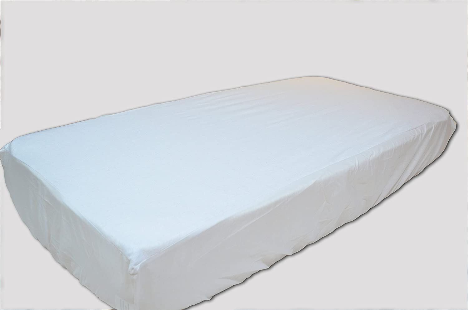 Trance Home Linen Cotton Terry Waterproof Crib Mattress Protector - (Pack of 2)-WHITE