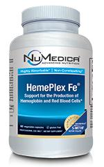 HemePlex FE 60ct, NuMedica Supports the production of hemoglobin and red blood cells