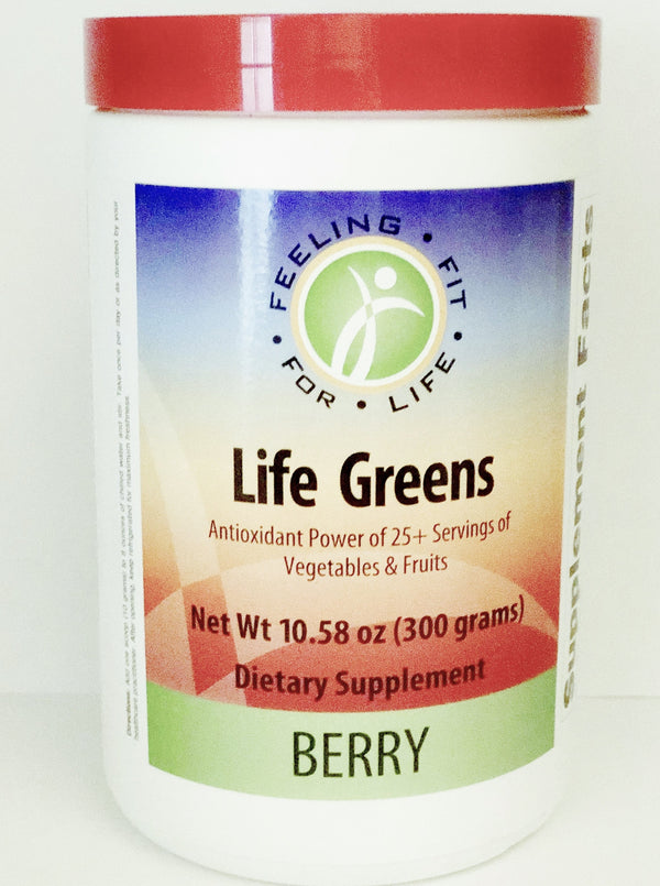 Life Greens Berry Powder 300 Gr Green Formula Featuring High ORAC