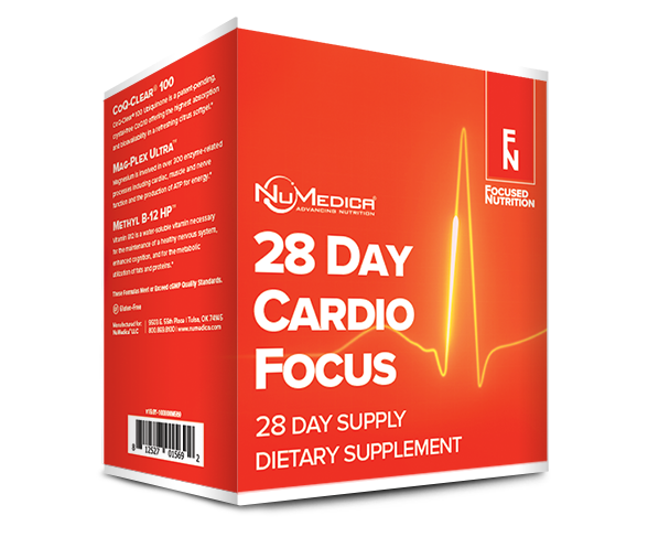 28 Day Cardio Focus, Targeted  Cardiovascular Nutritional Kit- NuMedica