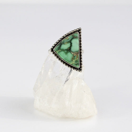 Royston Turquoise Handmade Triangle Ring Recycled Silver