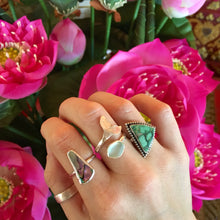 Load image into Gallery viewer, Royston Turquoise Handmade Triangle Ring Recycled Silver