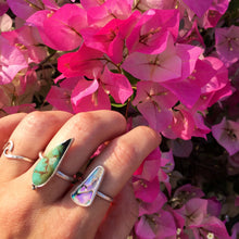 Load image into Gallery viewer, Royston Turquoise handmade ring recycled silver