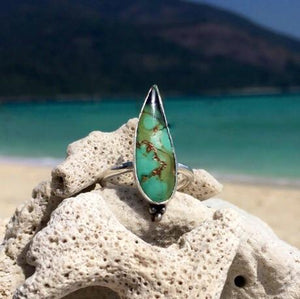 Royston Turquoise handmade ring recycled silver
