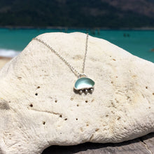 Load image into Gallery viewer, Sea Glass Dainty Light Blue Necklace