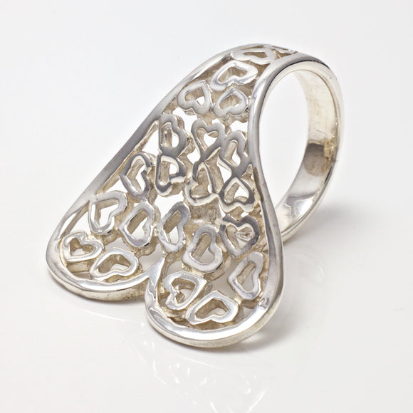 Bella Heart Curve Ring