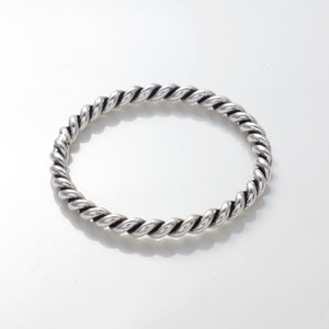Mila Twisted Rope Stacking Ring