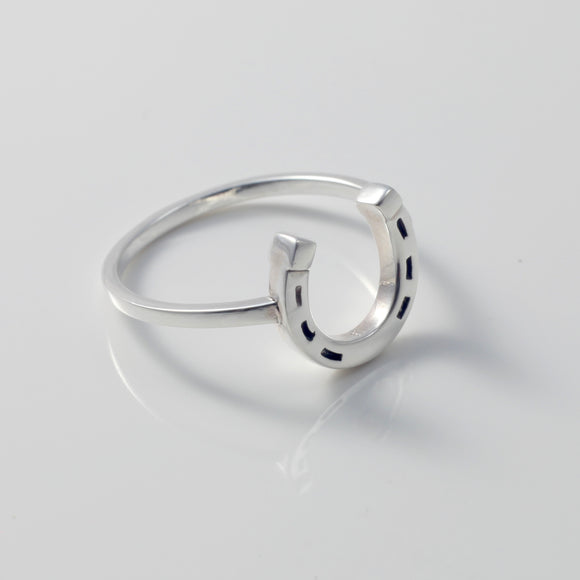 Clover Horseshoe Ring