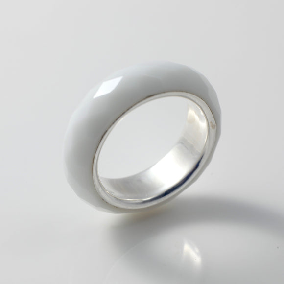 Ria White Band Ring