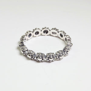 Arabella Beaded Flowers Band Ring