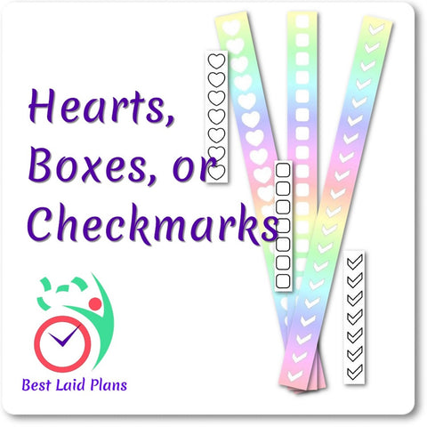Image of Planner Stickers Wide Horizontal Border Boxes March Colors Leafy Treetops Weekly Kit