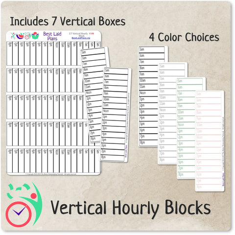Image of Hourly Schedule Stickers