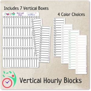Hourly Schedule Stickers