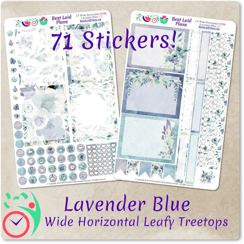 Image of Leafy Treetops Wide Horizontal Weekly Kit Lavender Blue