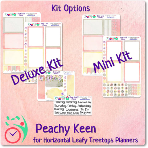 Image of Leafy Treetops Wide Horizontal Weekly Kit Peachy Keen