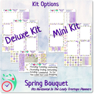 Leafy Treetops Wide Horizontal Weekly Kit Spring Bouquet