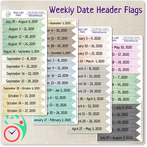 Weekly Date Header Flags