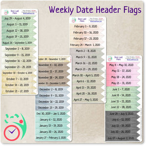 Weekly Date Header Flags 2021