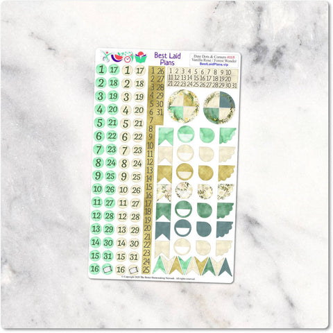 Image of Functional Planner Stickers Icons Date Covers Script Headers Washi