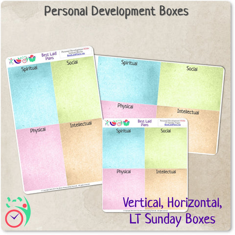 Personal Development Box Stickers for Children and Youth Program