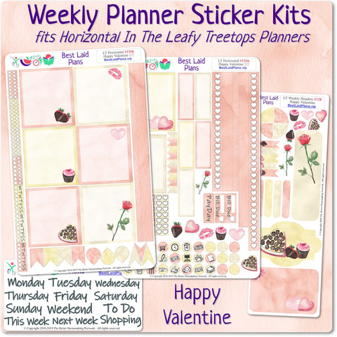 Leafy Treetops Horizontal Weekly Kit Happy Valentine