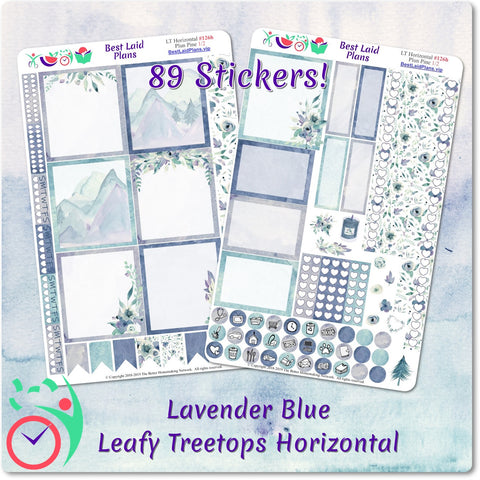 Image of Leafy Treetops Horizontal Weekly Kit Lavender Blue