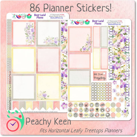 Image of Leafy Treetops Horizontal Weekly Kit Peachy Keen