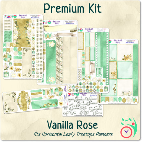 Image of Leafy Treetops Horizontal Weekly Kit Vanilla Rose